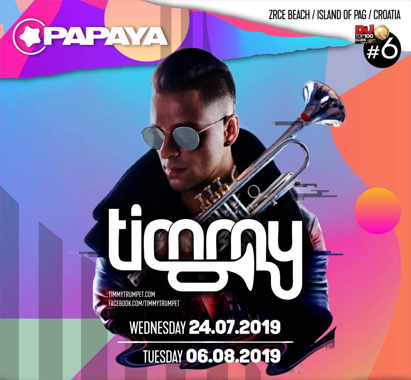 Timmy Trumpet 24 JUL 2019 Papaya club, Zrce beach, Island of Pag