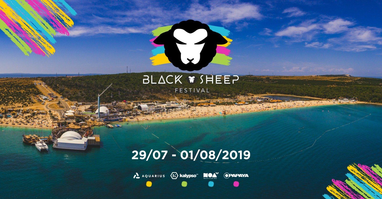 Black sheep festival 2019 zrce Papaya aquarius noa kalypso